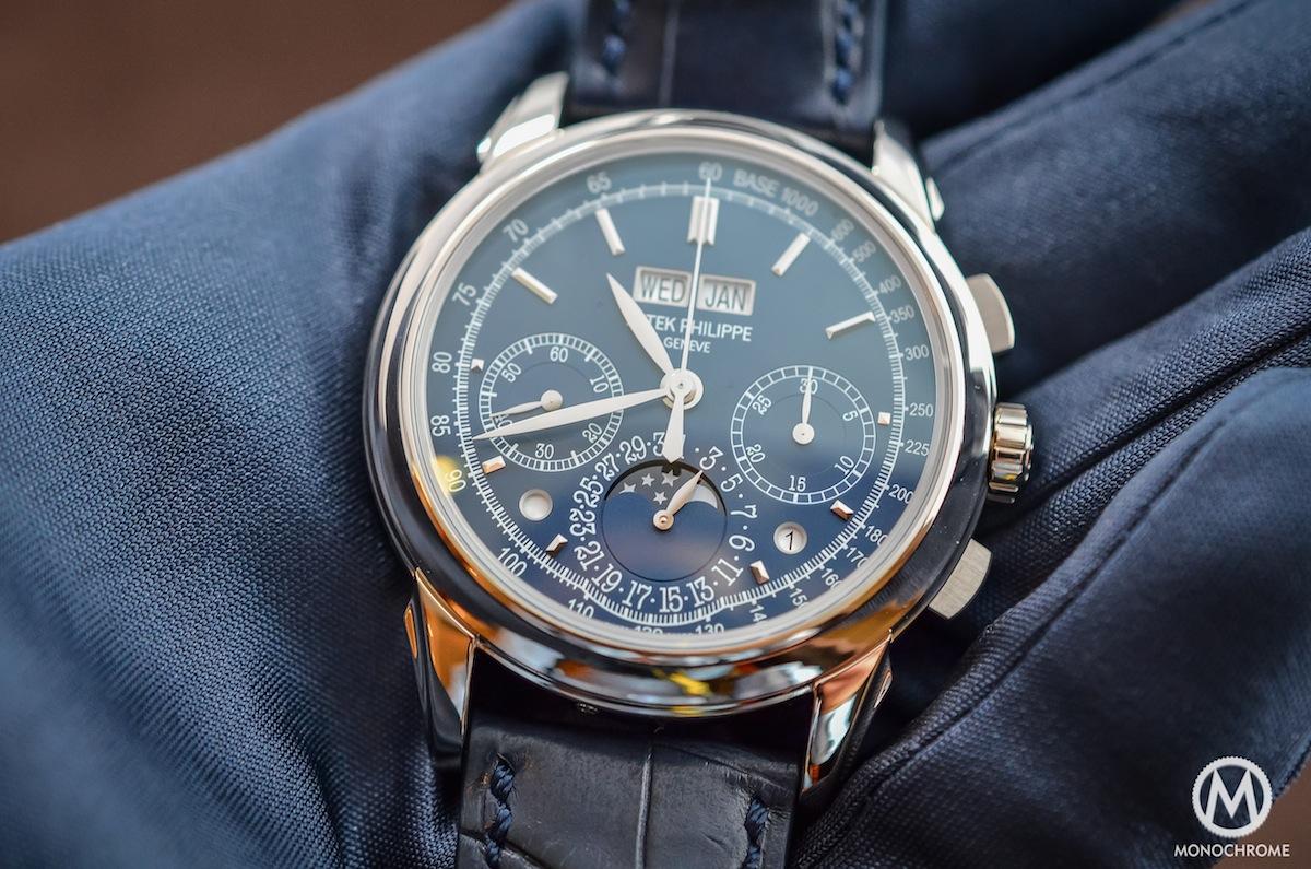 Patek Philippe Chronograph Perpetual Calendar Blue 5270G - 4