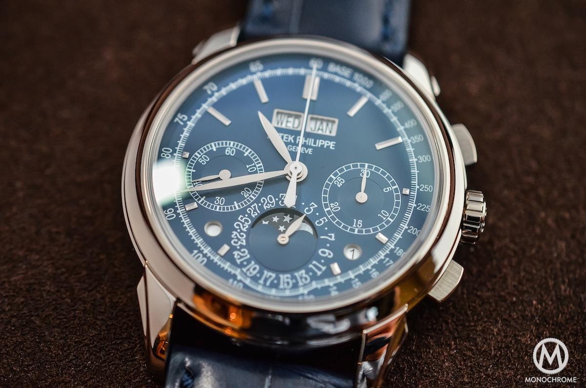 Patek Philippe Chronograph Perpetual Calendar Blue 5270G - 6