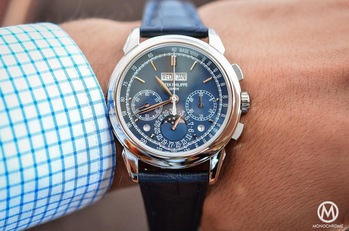 Patek Philippe Chronograph Perpetual Calendar Blue 5270G - 9