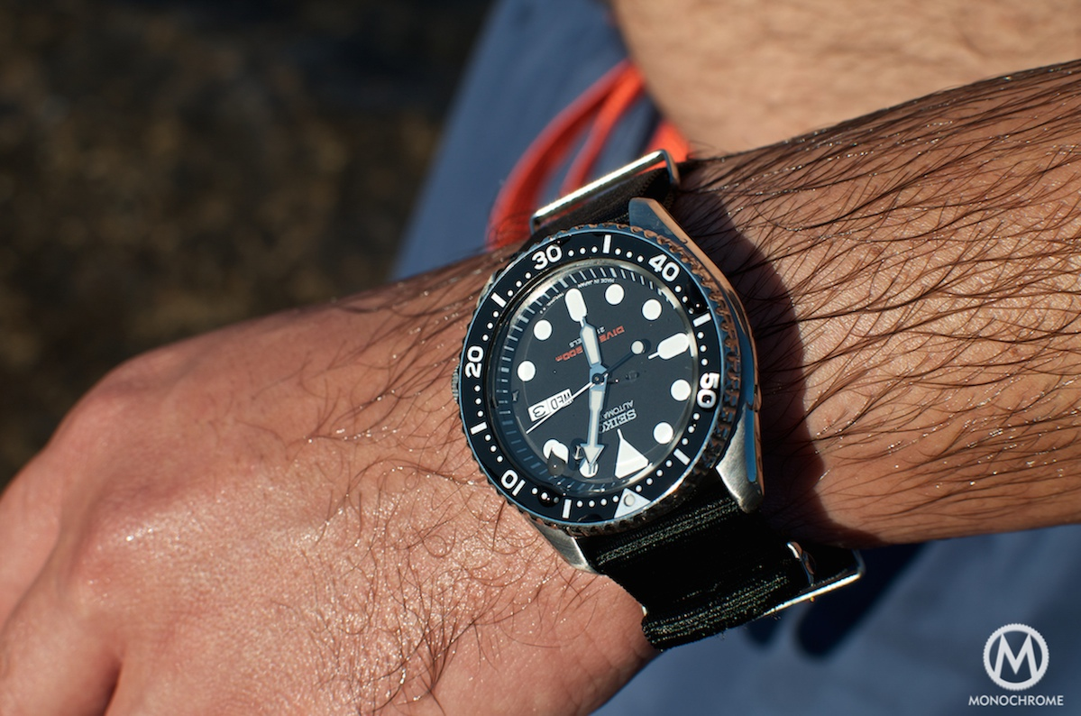 The seiko skx007 and its family of seiko beater divers monochrome watches for Celebrity seiko watch