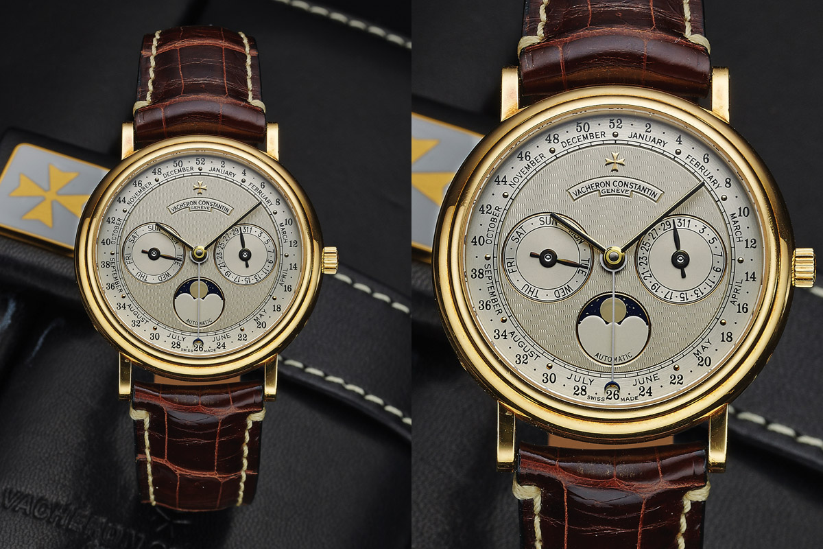 VACHERON CONSTANTIN REF. 47052 TRIPLE DATE MOONPHASE YELLOW GOLD