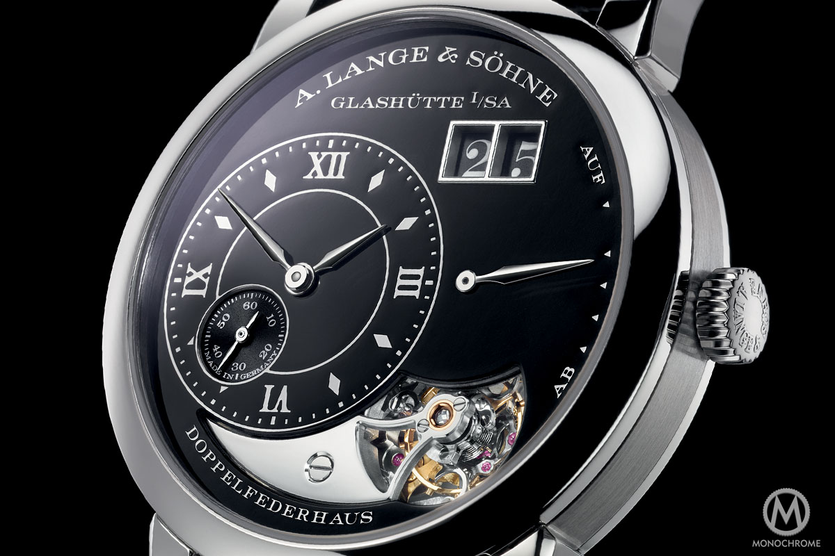 A. Lange and Sohne Lange 1 Tourbillon Handwerkskunst black enamel 20th anniversary - 7