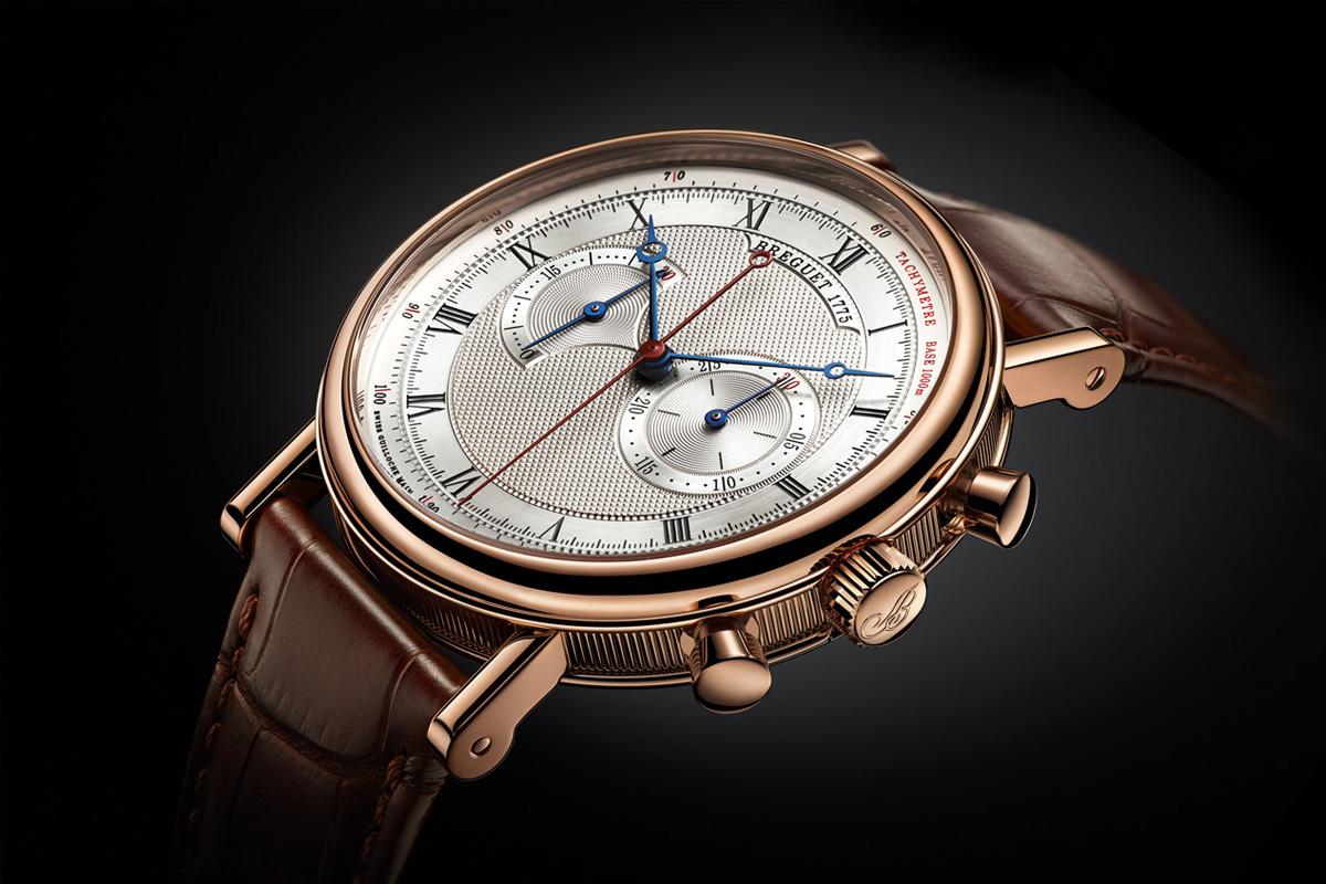 Breguet Classique Chronograph 5287 pink gold silver dial - 1