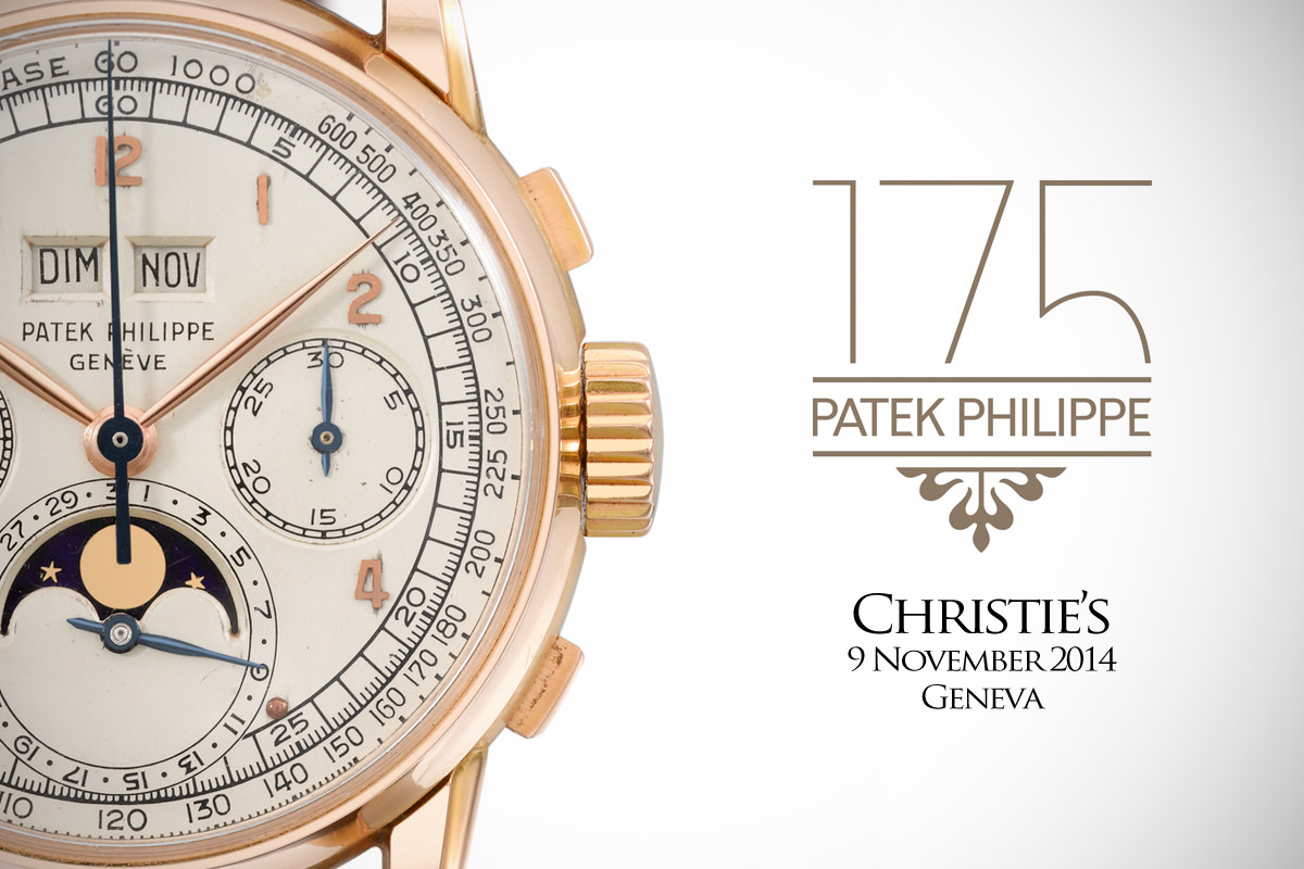 Patek Philippe 175th Anniversary Auction by Christie's - 1
