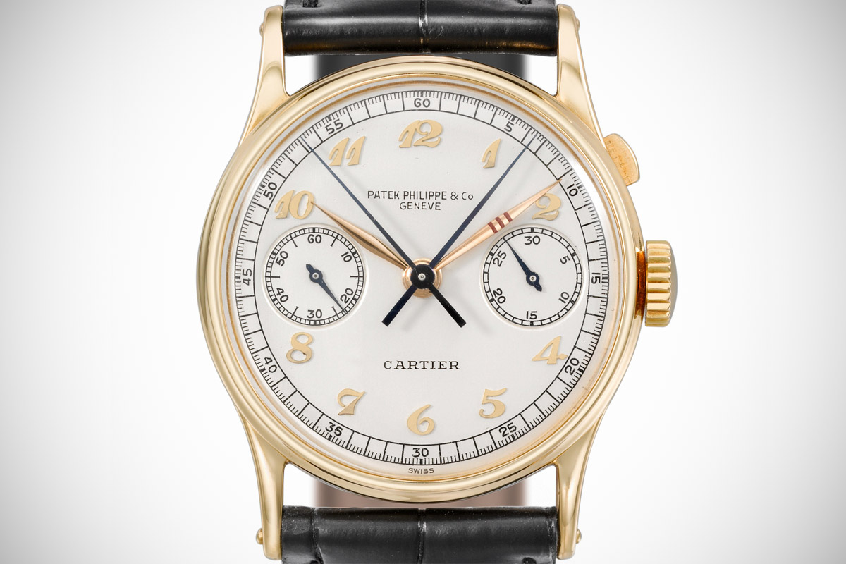 Patek Philippe Ref. 130 Split second chronograph Cartier signed Boeing