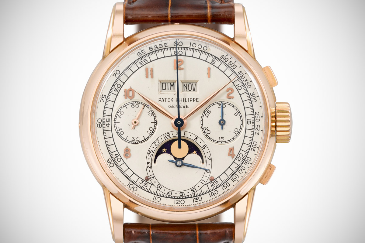 Patek Philippe Ref. 2499 first series perpetual calendar chronograph pink gold - 1
