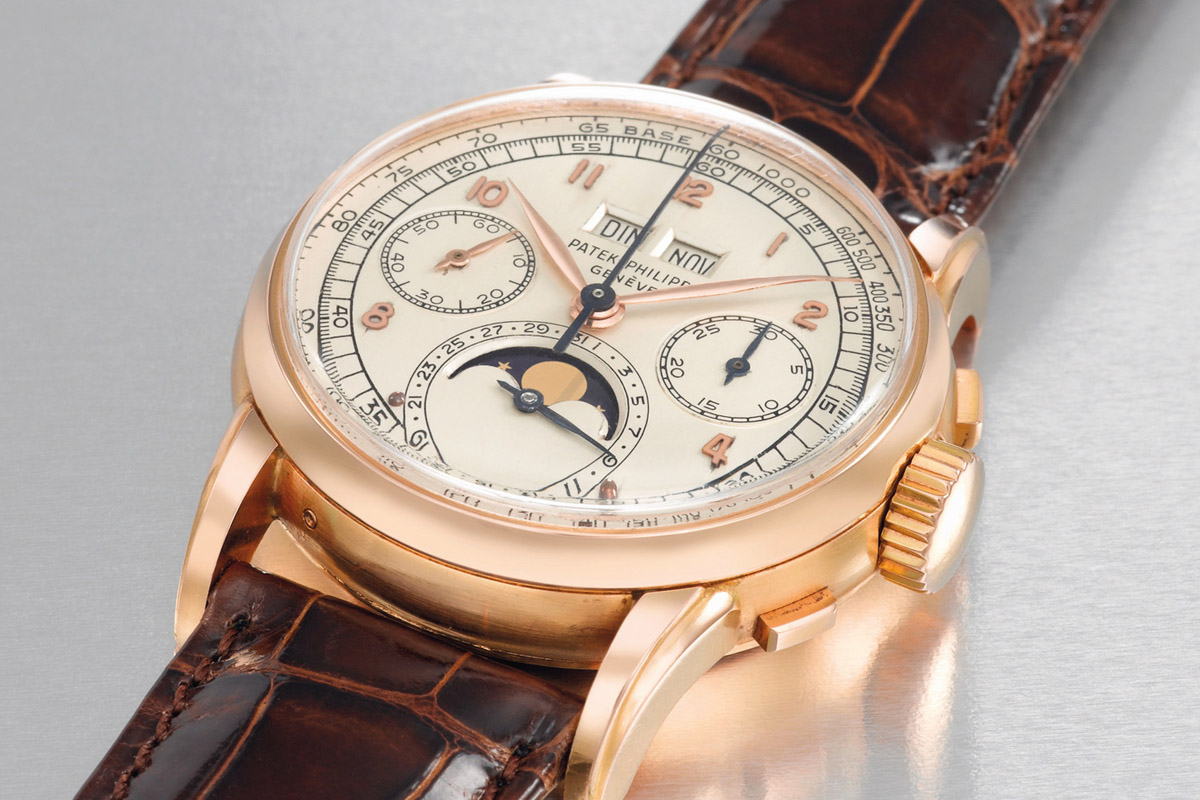Patek Philippe Ref. 2499 first series perpetual calendar chronograph pink gold - 2
