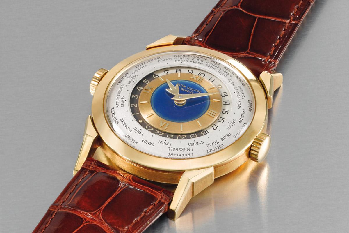 Patek Philippe Ref. 2523 Worldtimer double crown enamel - 1