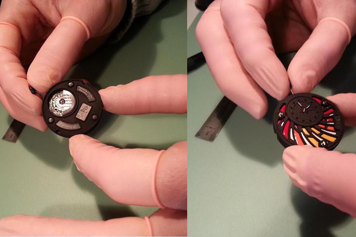 Atelier le Brezeguet movement and dial