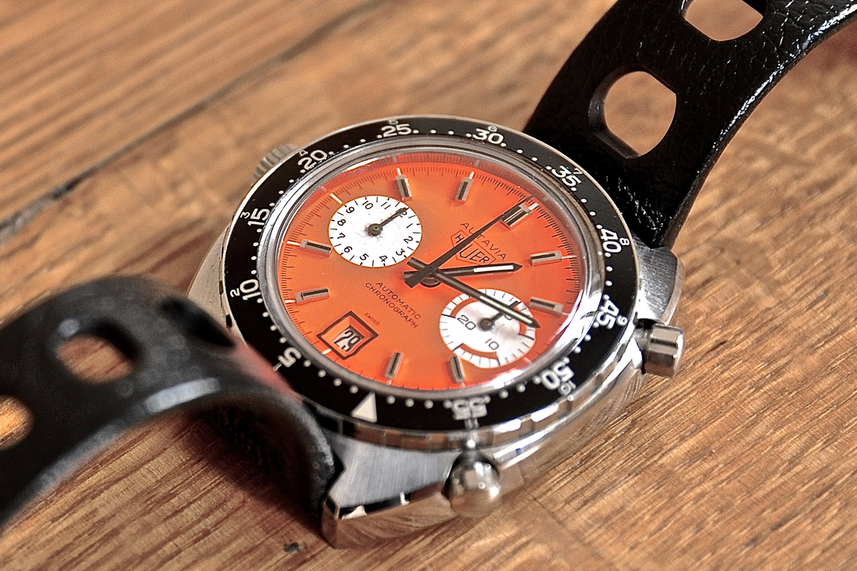 Heuer Autavia ref.1163 Orange dial prototype