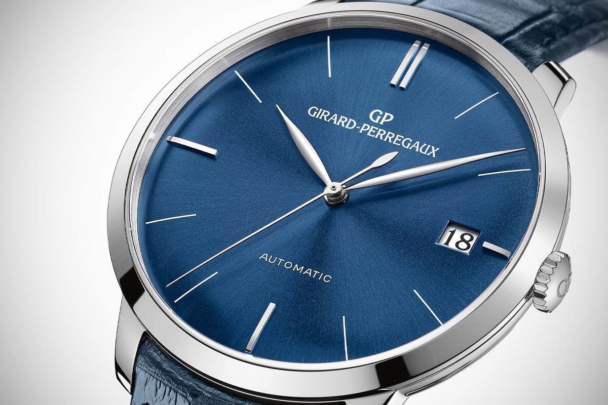 Girard Perregaux 1966 41mm blue dial - 5