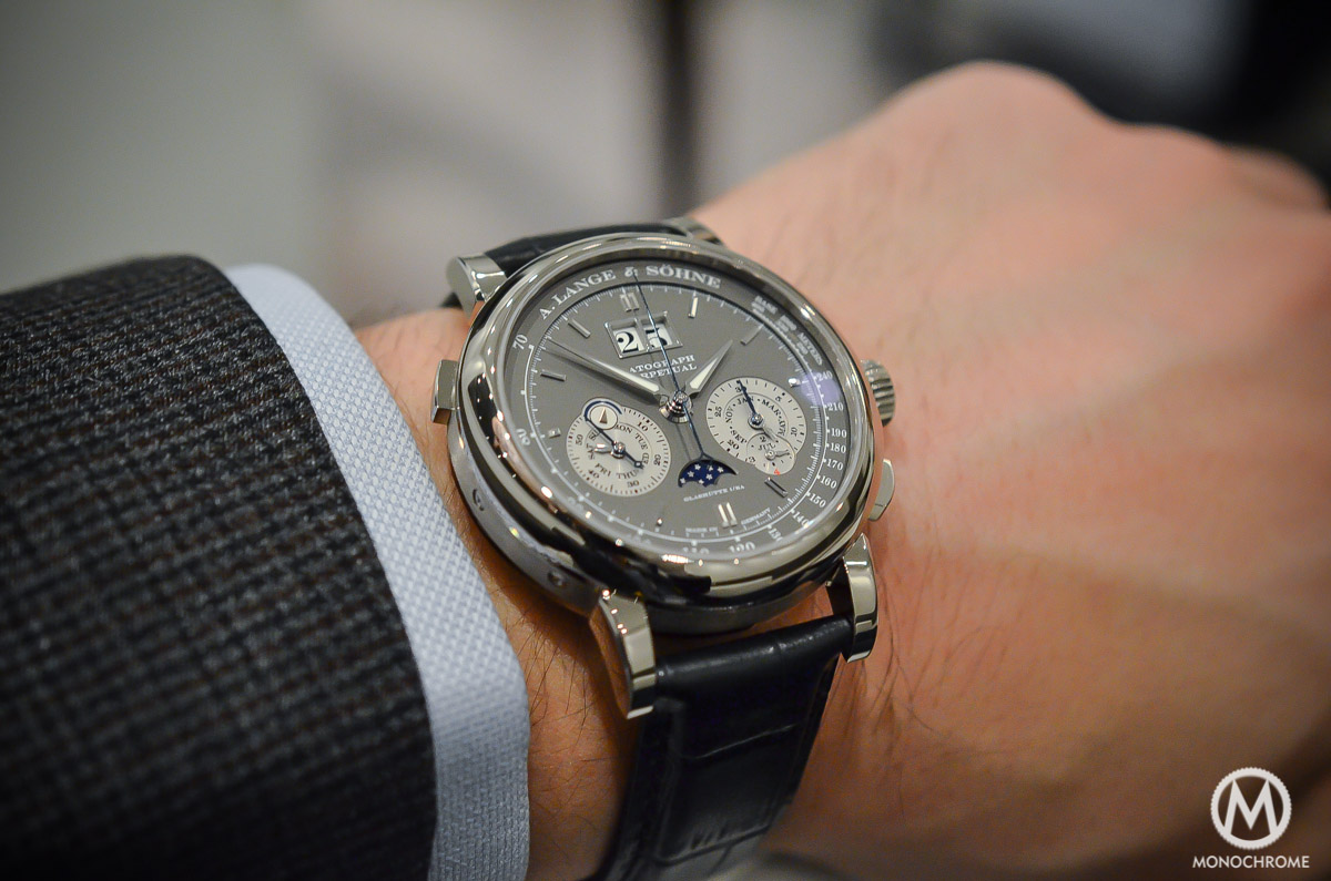 A. Lange and Sohne Datograph Perpetual Grey Dial White Gold - 2015 edition - 2
