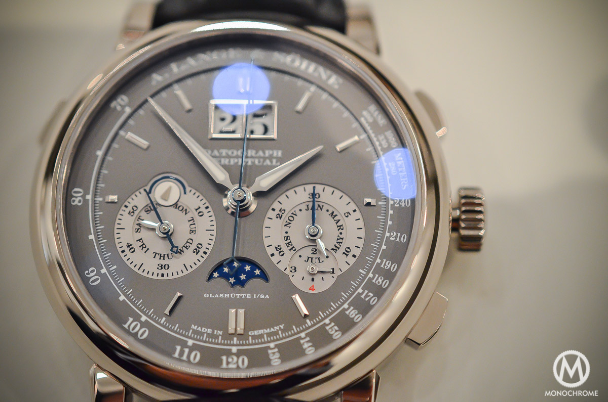 A. Lange and Sohne Datograph Perpetual Grey Dial White Gold - 2015 edition - 9