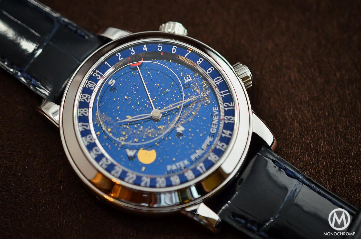 b39767e37b5 Patek Philippe 6102P Sky Moon Celestial explained with live photos ...