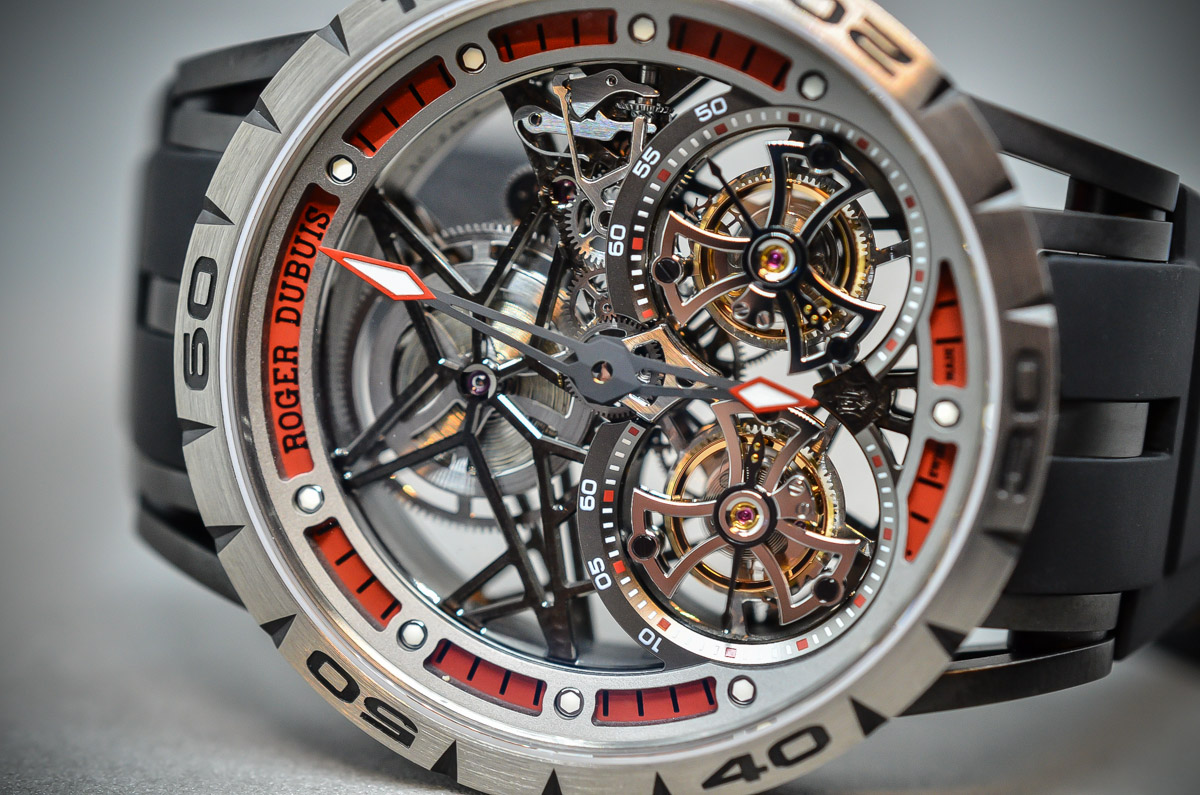 Roger Dubuis Excalibur Spider Skeleton Double Flying Tourbillon - 4