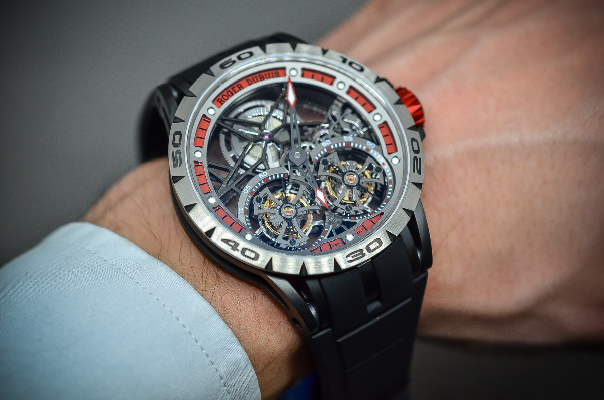 Roger Dubuis Excalibur Spider Skeleton Double Flying Tourbillon - 7
