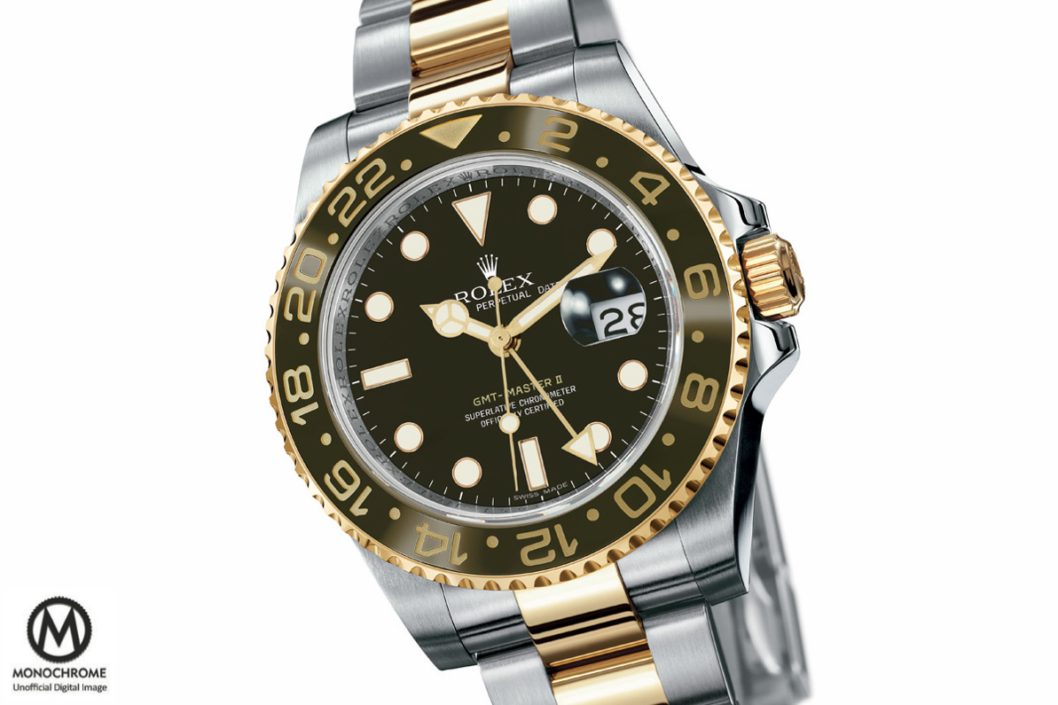 Rolex GMT Master 2 brown Ceramic two tone root beer Baselworld 2015 - 1