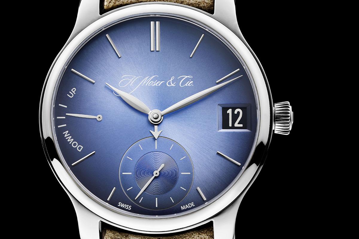 H. Moser Cie Endeavour Perpetual Calendar Funky Blue - 4