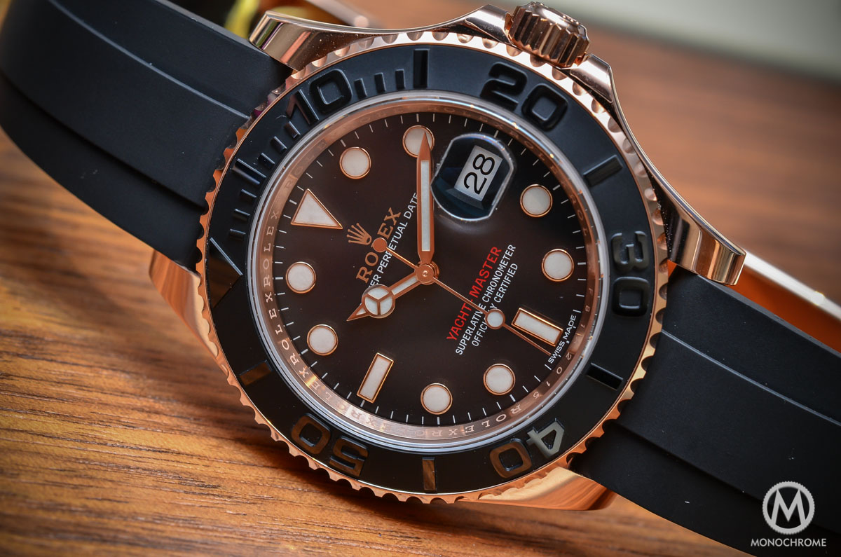 Hands,on with the Rolex Yacht,Master 116655 (Everose gold on