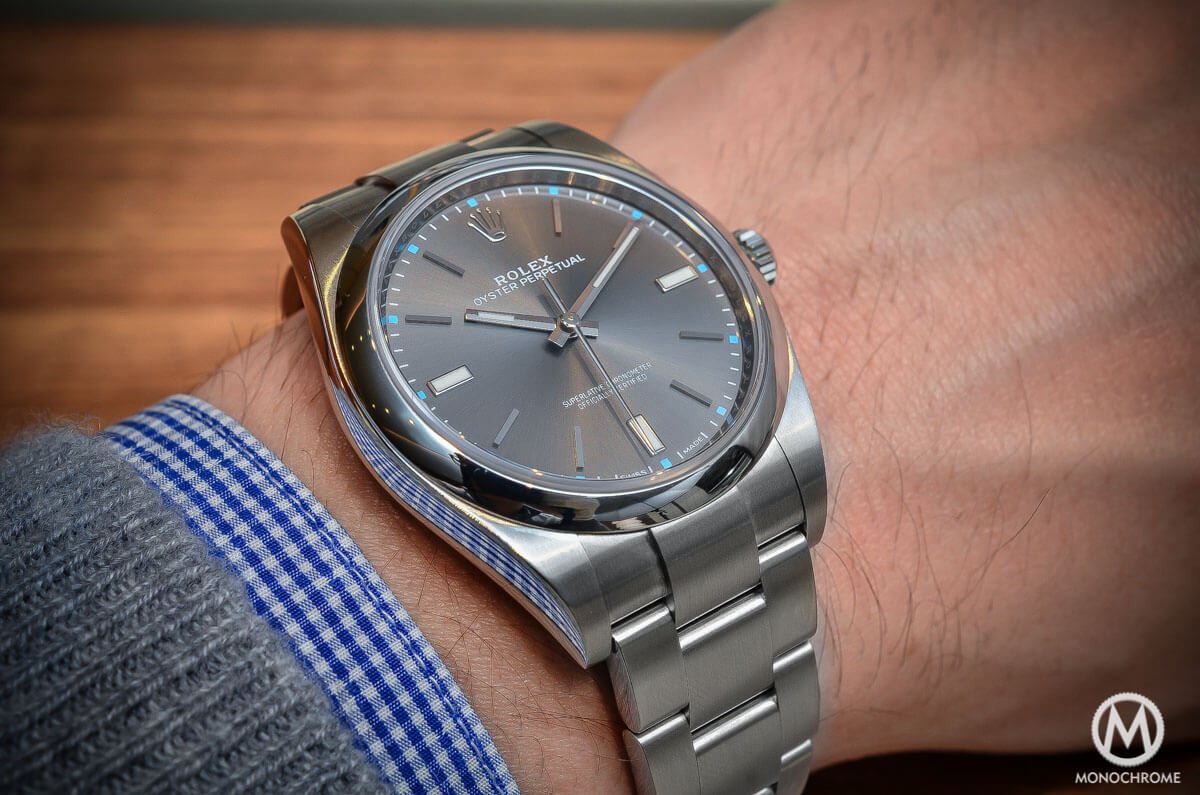 844f17ff88f7 Hands-on Review - The 2015 Rolex Oyster Perpetual 39mm - specs ...
