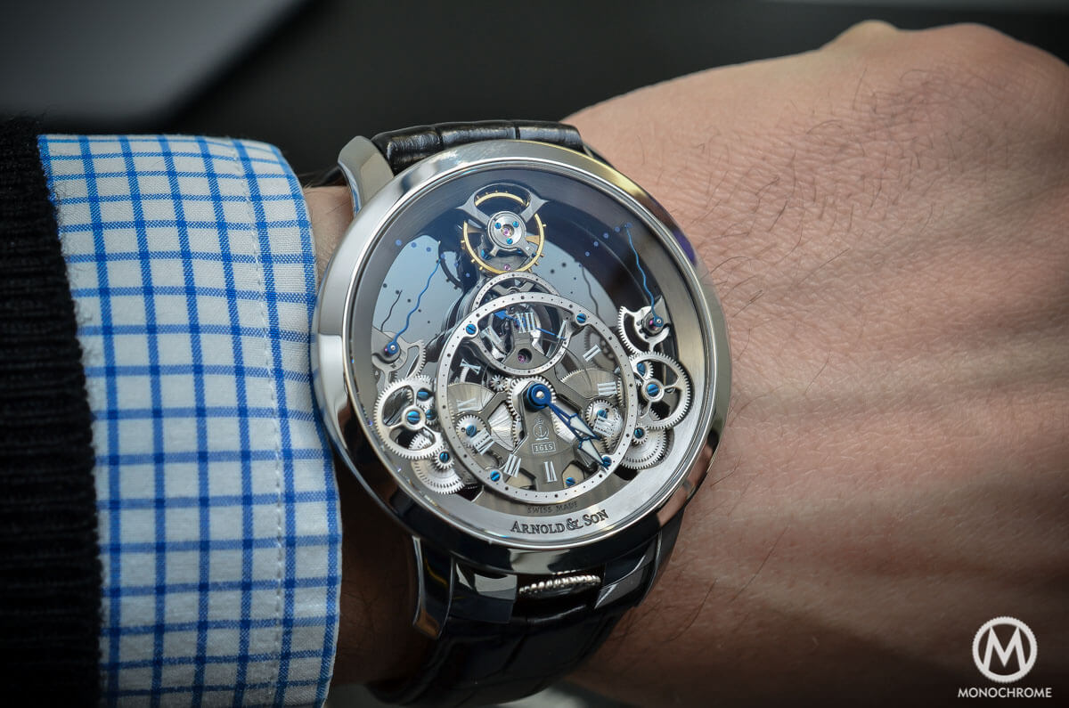 Arnold & Son Time Pyramid steel - 5