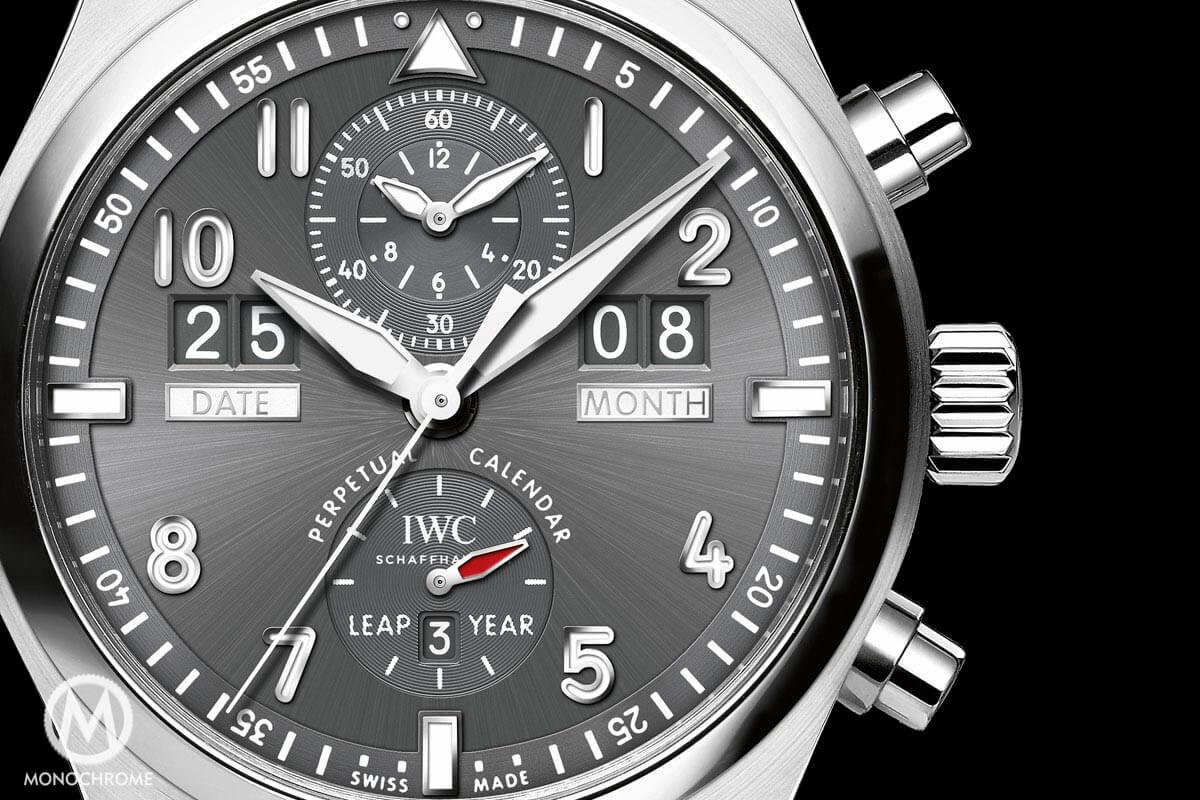 IWC Pilot Spitfire Perpetual Calendar Digital Date-Month Stainless Steel