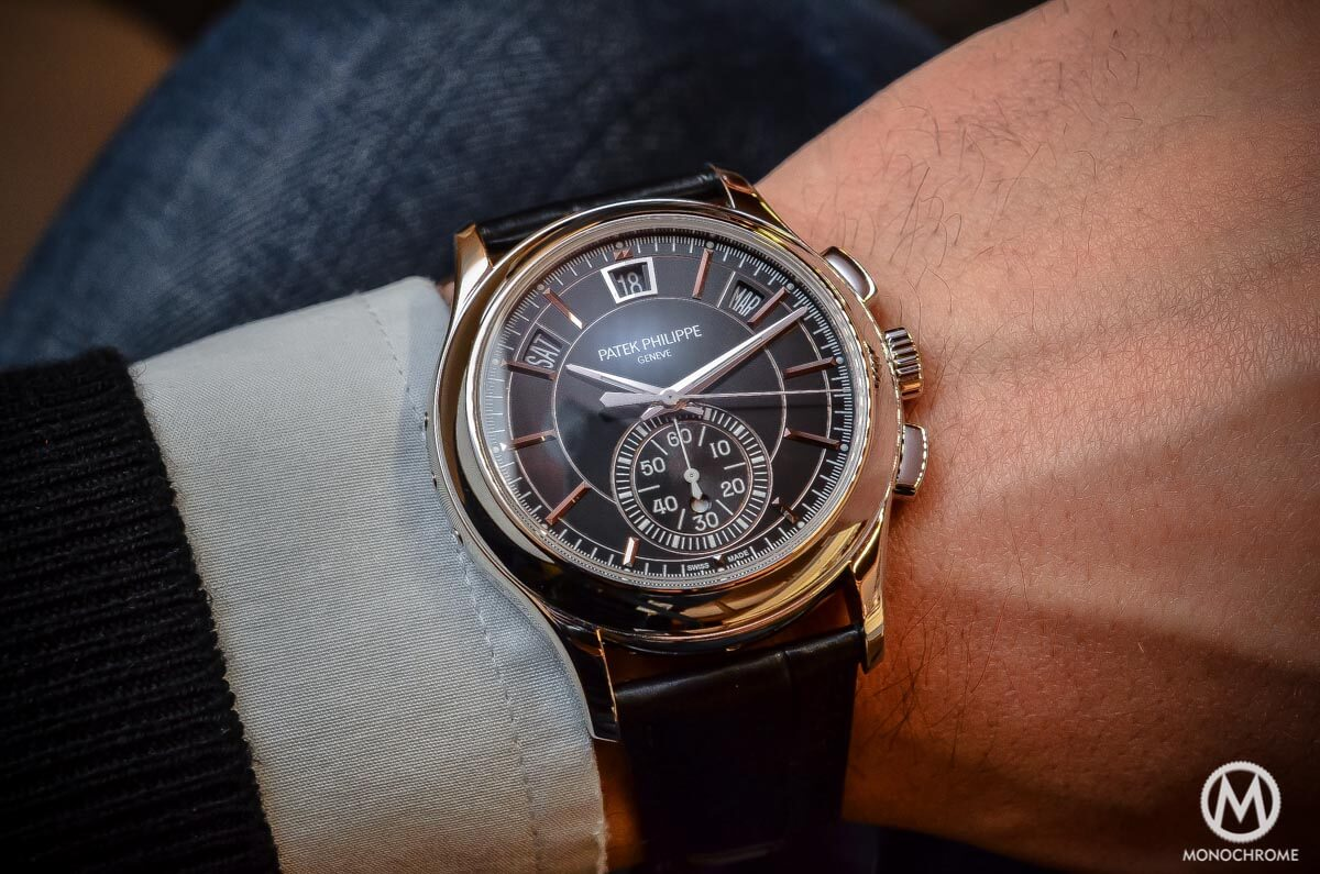 b7b27c5dae5 Patek Philippe Annual Calendar Chronograph Ref. 5905P - hands-on ...