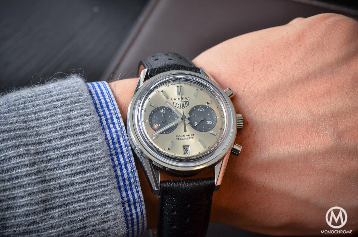 dec8fddfd06 Hands-on with the TAG Heuer Carrera Calibre 18 Chronograph Telemeter ...