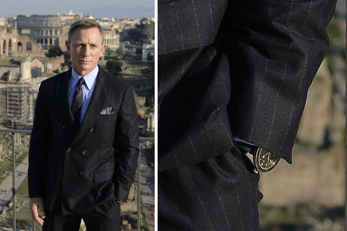James Bond 007 Spectre Omega Seamaster 300 Master Co-Axial Striped NATO - 5