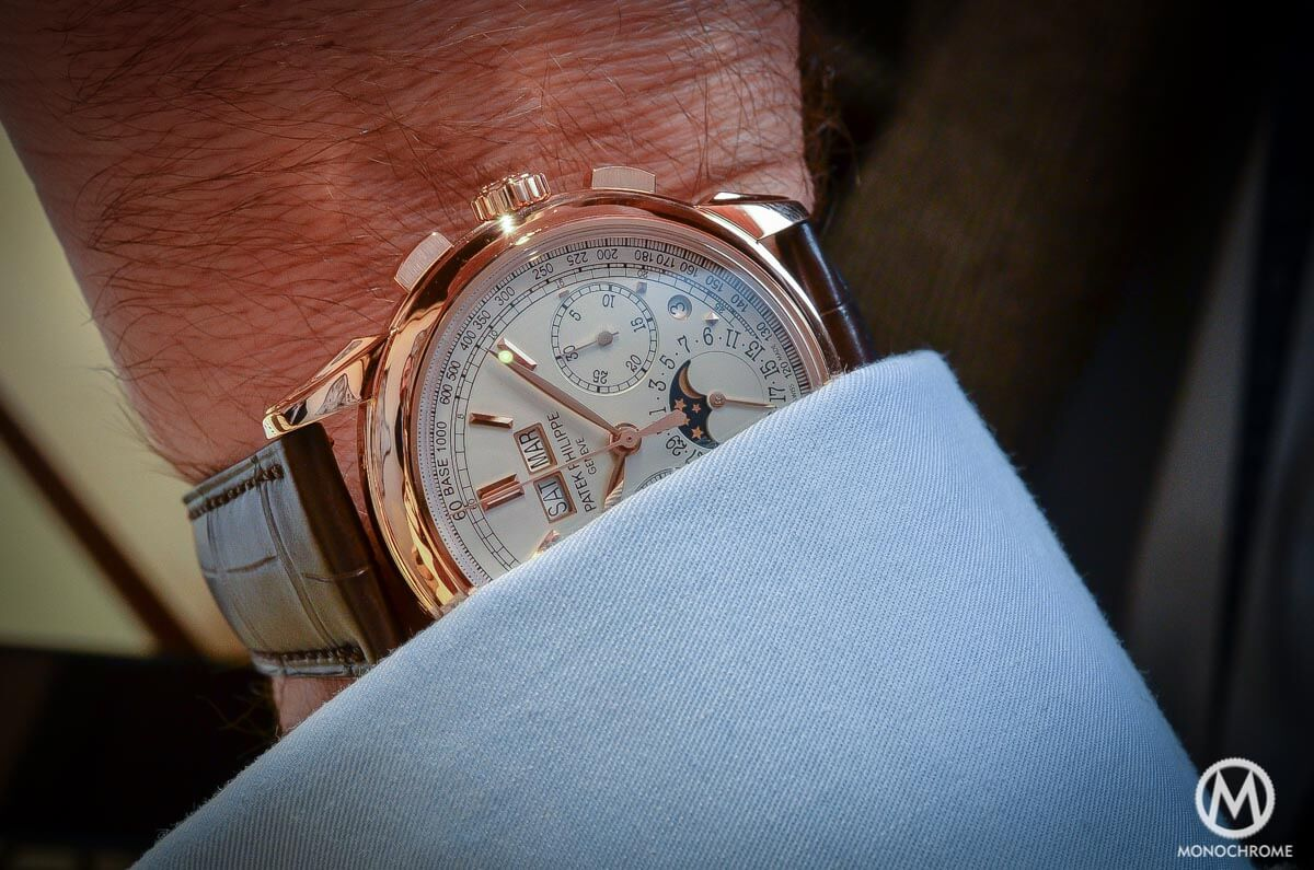 Patek Philippe 5270 Perpetual Calendar Chronograph Rose Gold 2015 no chin - 1