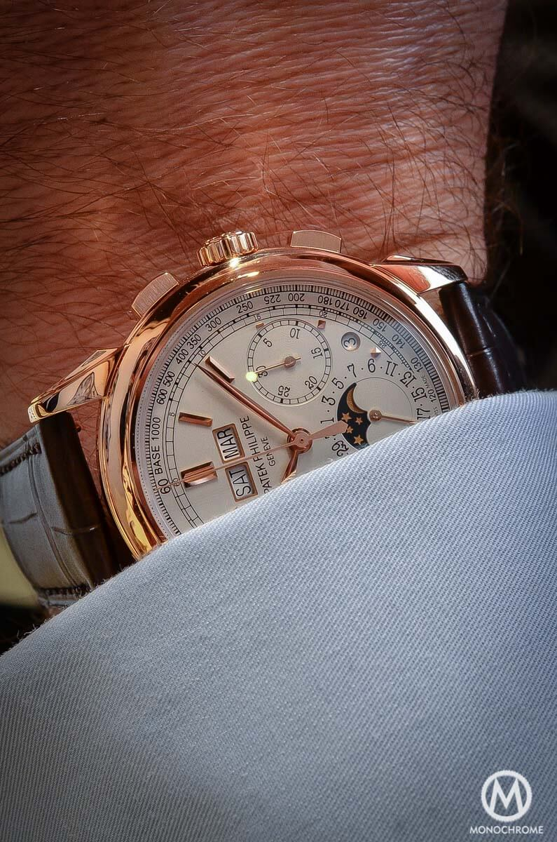 Patek Philippe 5270 Perpetual Calendar Chronograph Rose Gold 2015 no chin - 2