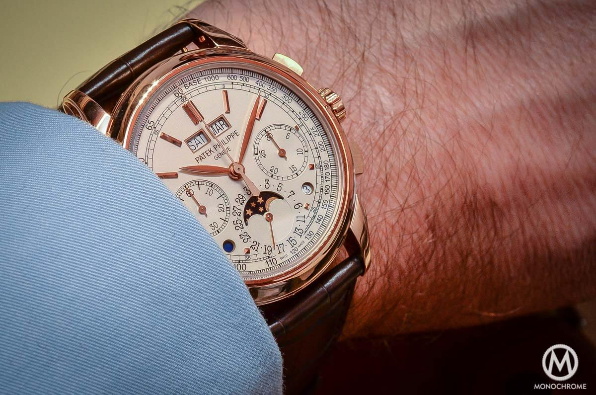 Patek Philippe 5270 Perpetual Calendar Chronograph Rose Gold 2015 no chin - 4