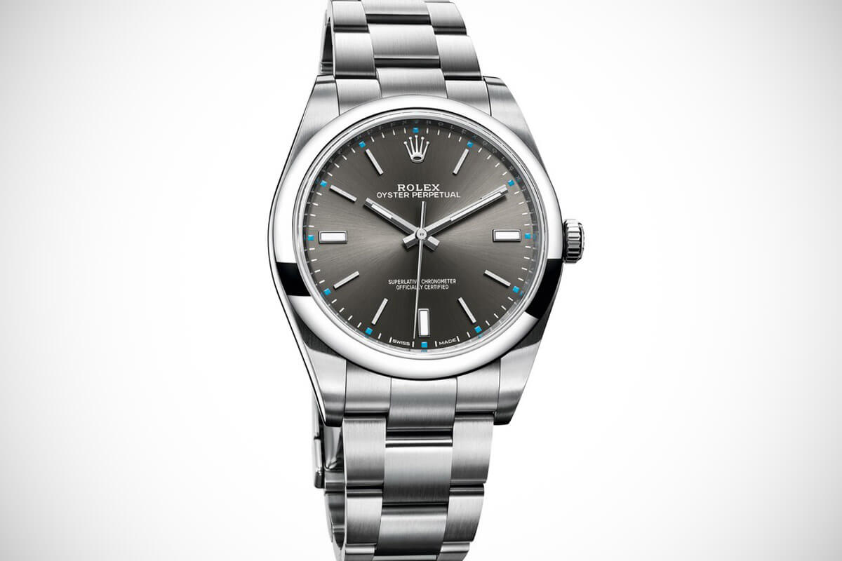 Rolex Oyster Perpetual 39mm Grey 114300-008