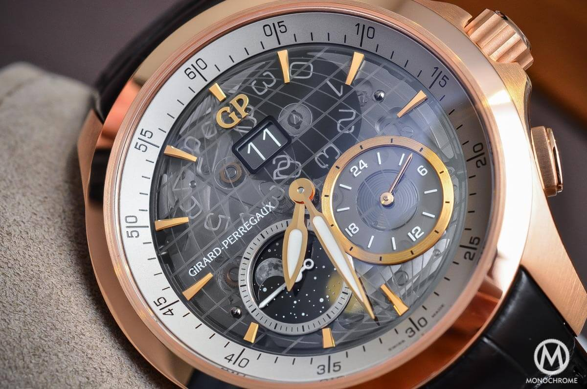Girard-Perregaux Traveller Large Date, Moonphase & GMT sapphire dial - 4