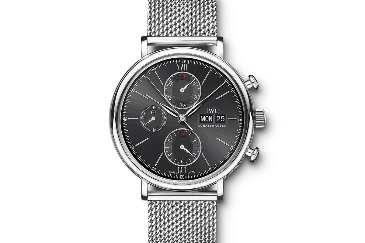 IWC Portofino Chronograph Black Milanaise