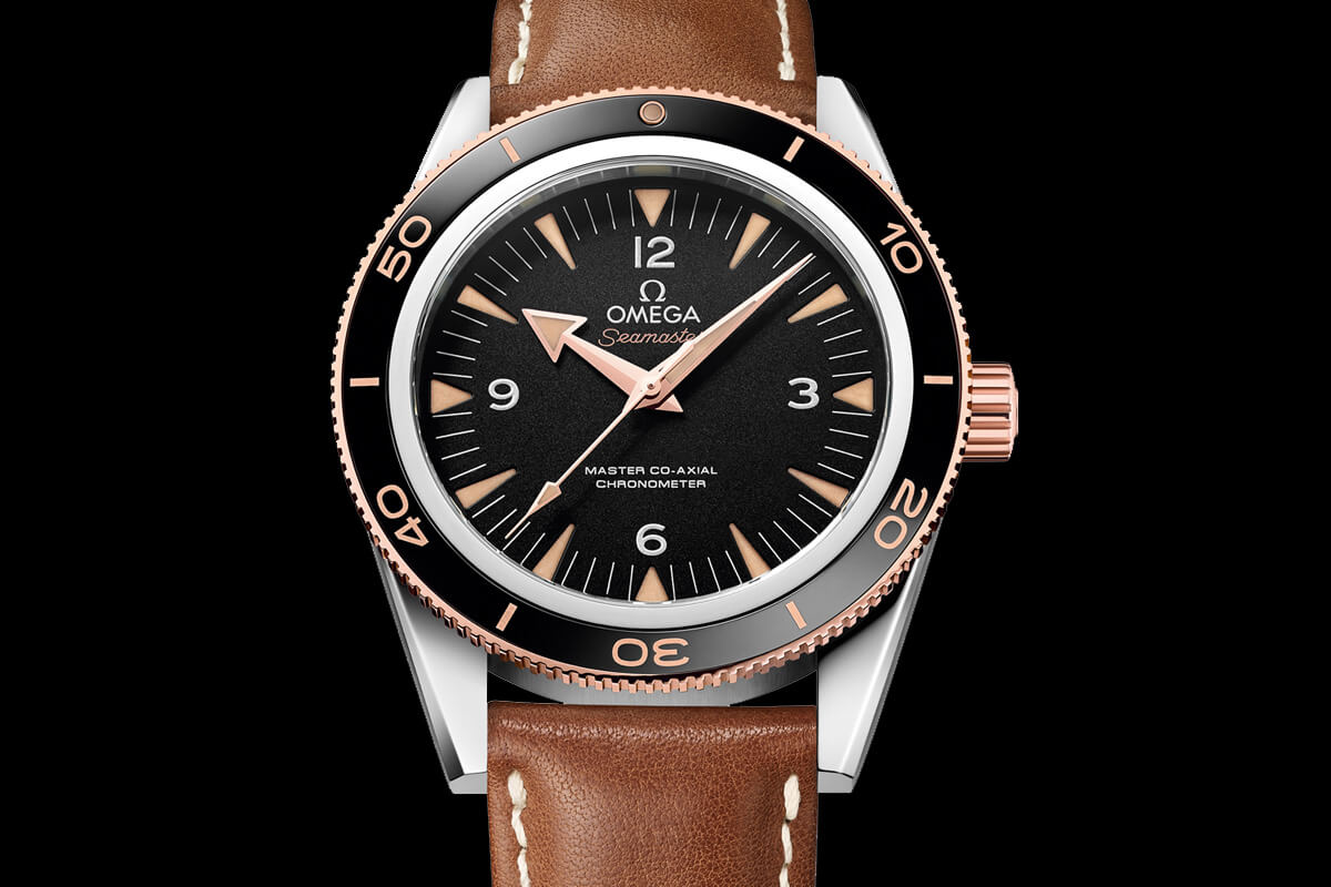 Omega Seamaster 300 Master Co-Axial Chronometer Leather strap - 2