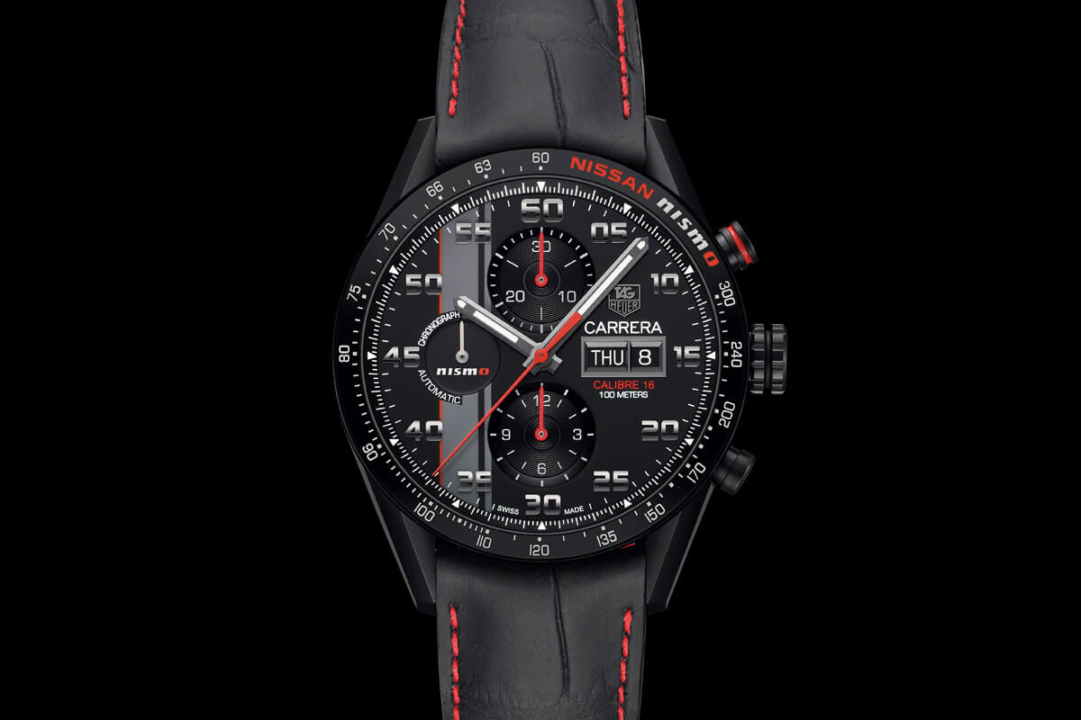 f3d6abfadf46 Introducing the TAG Heuer Carrera NISMO Calibre 16 Day-Date Chronograph  Special Edition (specs   price)