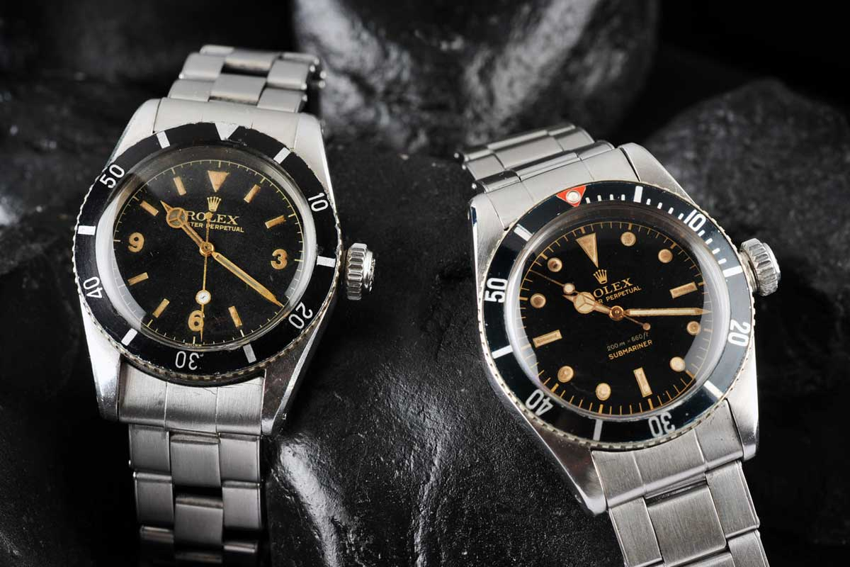 Rolex Submariner ref. 6200 and ref. 6205