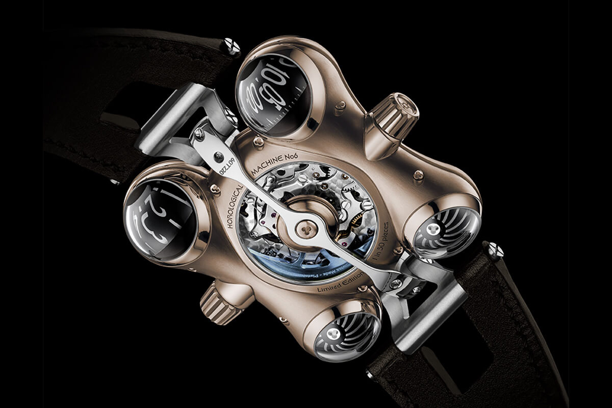 MB&F HM6 RT Space Pirate Red Gold - 2