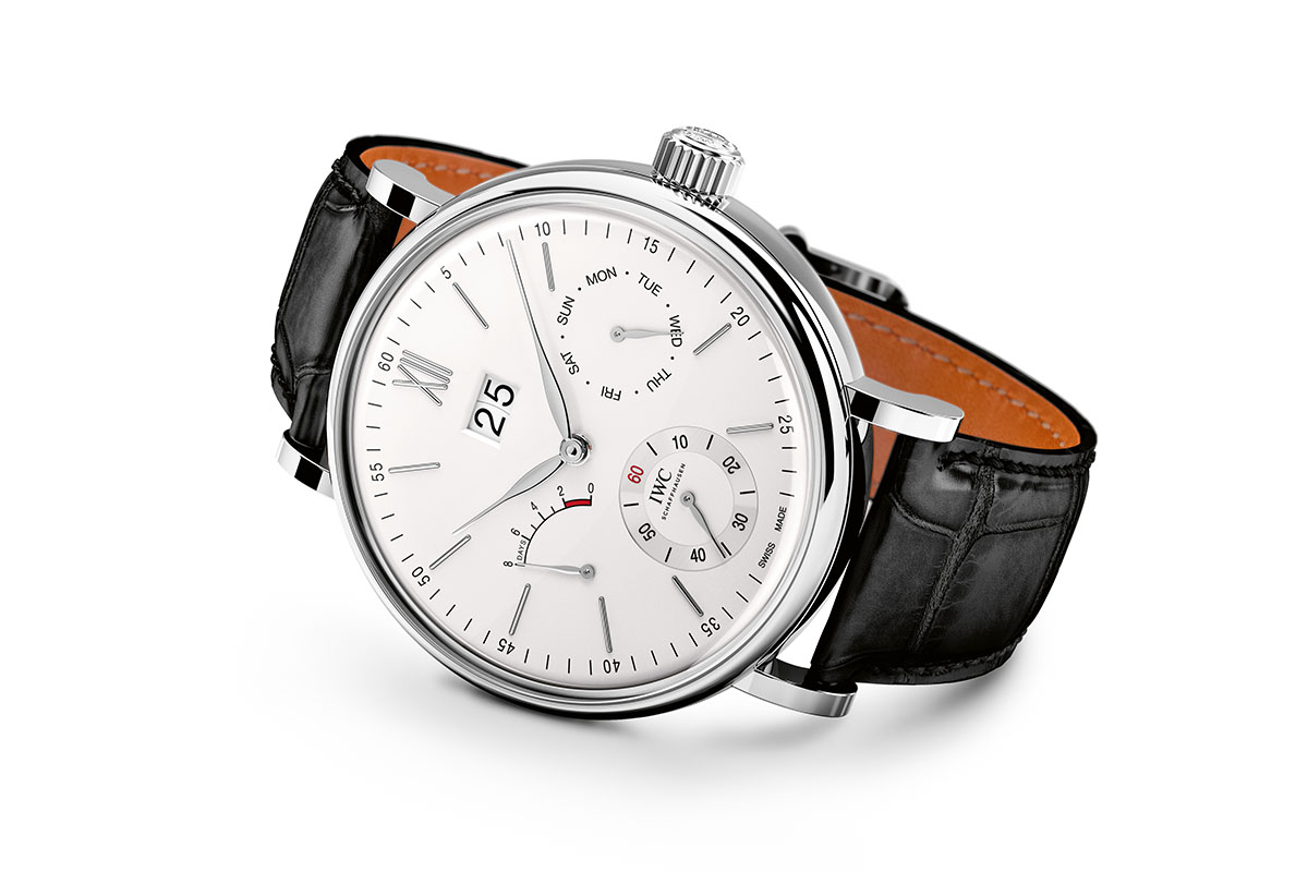 IWC Portofino Hand-Wound Day Date stainless steel