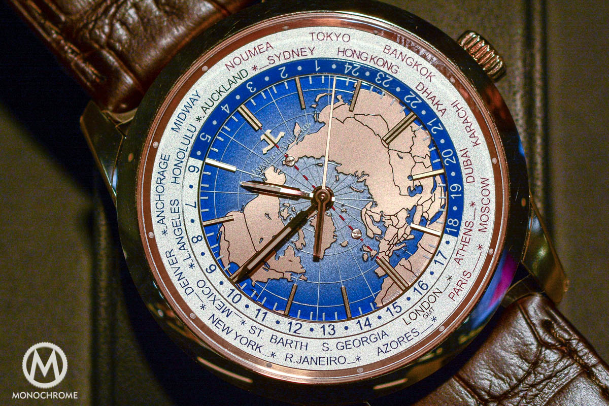 Jaeger-LeCoultre Geophysic Universal Time red gold close