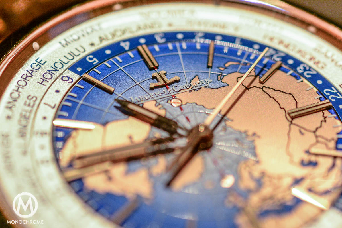 Jaeger-LeCoultre Geophysic Universal Time red gold close-up