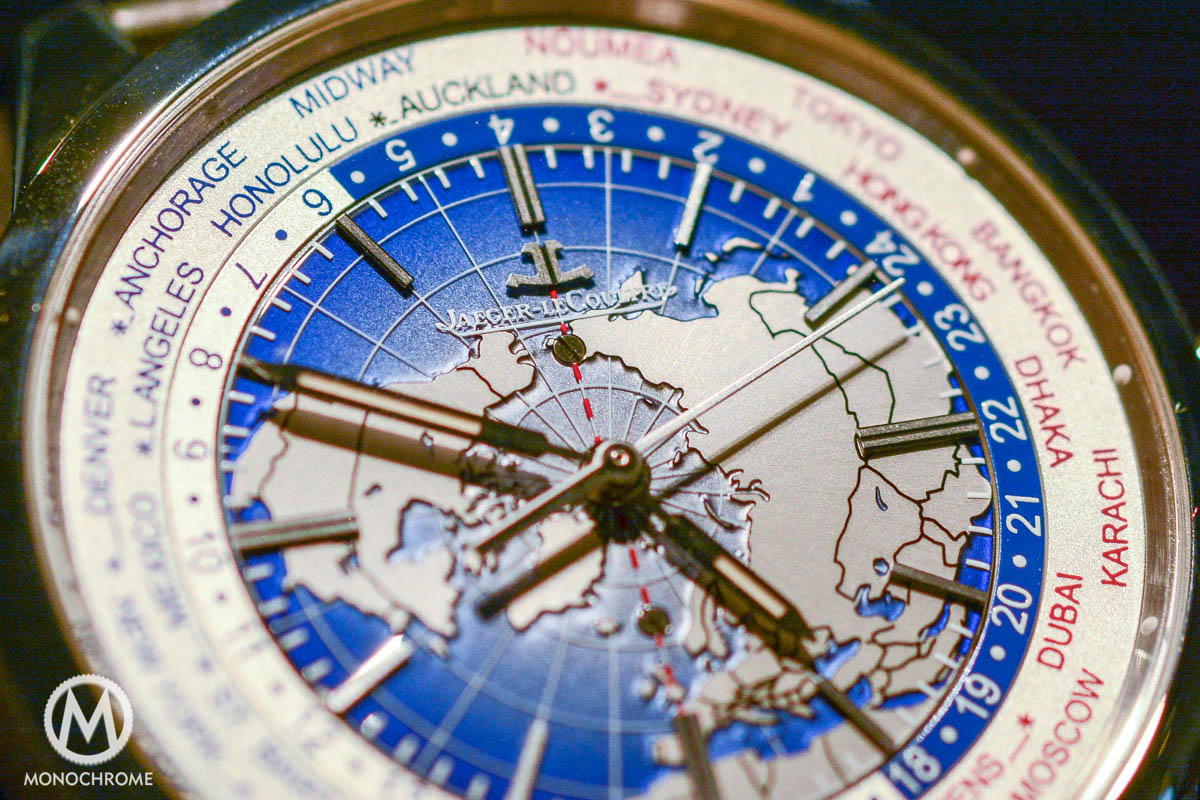 Jaeger-LeCoultre Geophysic Universal Time steel close-up