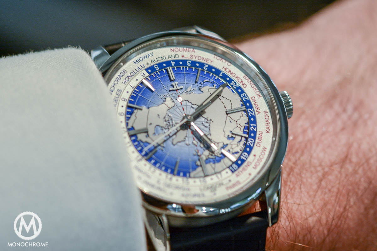 Jaeger-LeCoultre Geophysic Universal Time steel wristshot