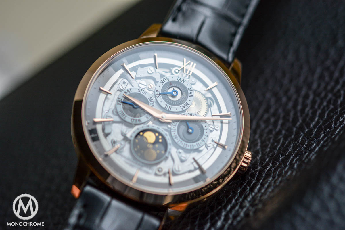 Montblanc Heritage Spirit Perpetual Calendar with a smoked sapphire dial