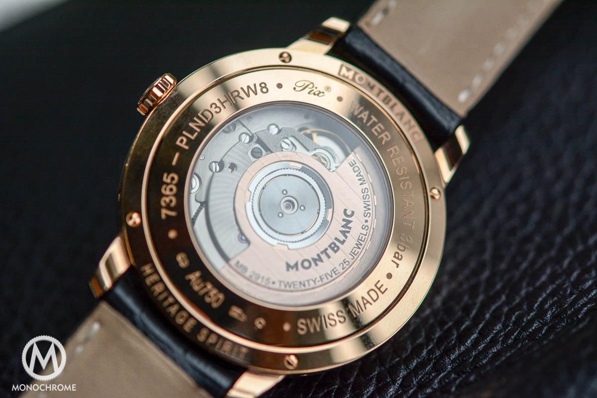 Montblanc Heritage Spirit Perpetual Calendar Sapphire Dial - Selitta SW300 movement