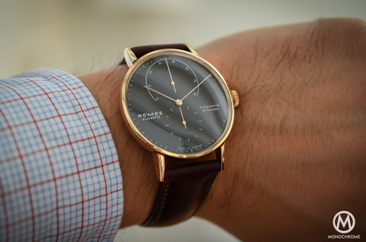 Nomos Lambda 39mm Gold Black Velvet dial