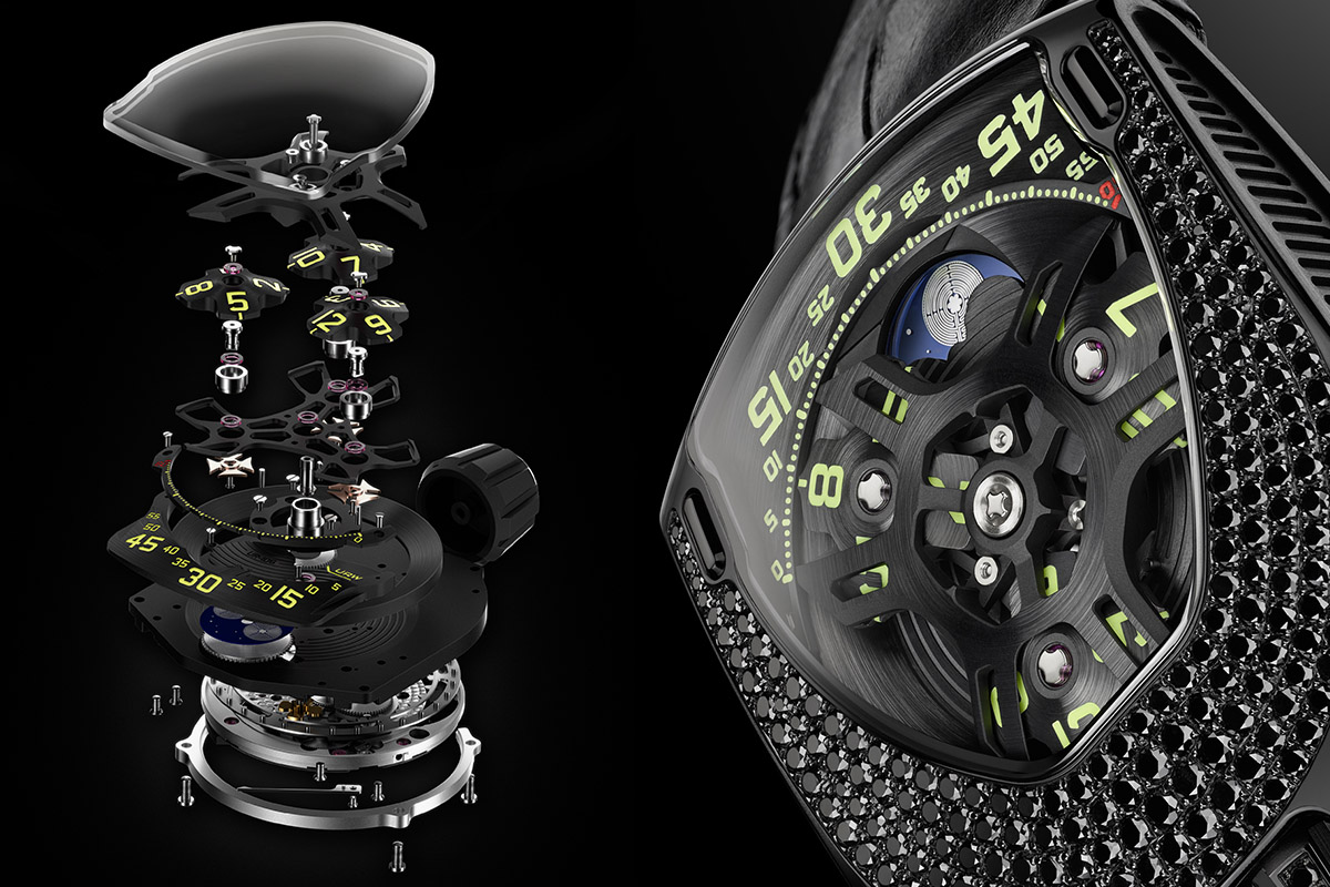 URWERK UR-106 Black Lotus