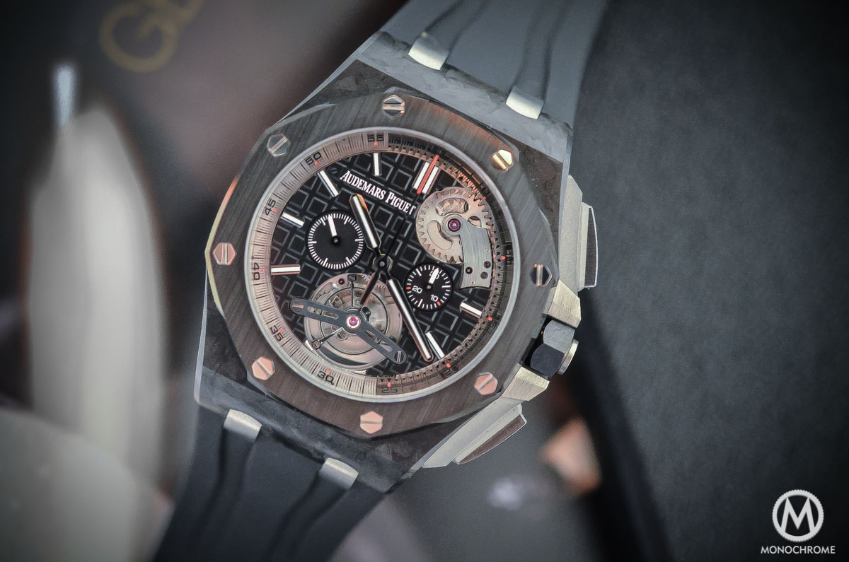 Audemars Piguet Royal Oak Offshore Selfwinding Tourbillon Chronograph - forged carbon case