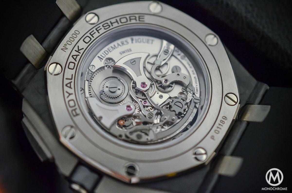 Audemars Piguet Royal Oak Offshore Selfwinding Tourbillon Chronograph - movement close up